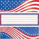 American flag stickers set. American flag banners set grunge style. Grunge effect can be removed. Vector EPS 10 Stock Photos