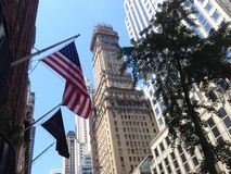 American flag in the streets of New York City Stock Image