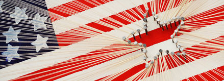 American Flag String Art royalty free stock image