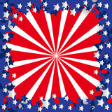 American flag stylized Royalty Free Stock Photos
