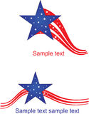 American flag stylized Stock Photo