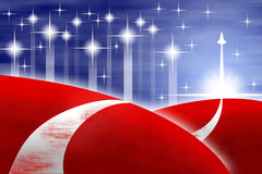 American flag stylized background Stock Photo