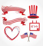 American flag stylized background Stock Photography