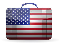 American flag on a suitcase for travel Royalty Free Stock Photography