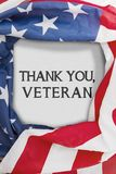 American flag with symbolic for veteran`s day Stock Photos