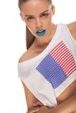 American flag t-shirt Stock Photos