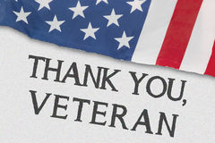 American flag with text of Thank You, Veteran