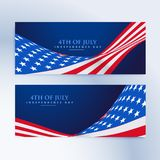 American flag 4th of july banners Stock Image