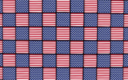 American flag themed cubes floor Royalty Free Stock Images