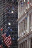 American flag at Tickertape Parade, NY royalty free stock image
