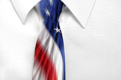 American Flag Tie Stock Images