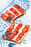 American flag toast Royalty Free Stock Images