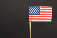 American Flag - Toothpick. A miniature replica of the American flag on a toothpick Royalty Free Stock Image