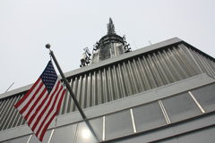 American flag. The american flag on top of Empire State building Stock Photo