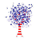 American flag tree Royalty Free Stock Photo