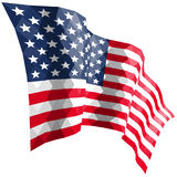 American flag in triangular style. American flag in triangular style isolated on white Royalty Free Stock Image