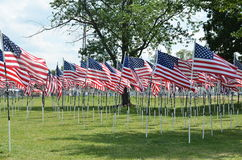 American Flag Tribute to our Soldiers Stock Photography