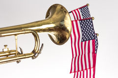 American Flag Trumpet Stock Photos