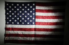 American flag in the twilight Royalty Free Stock Photos