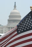 American Flag at U.S. Capitol Royalty Free Stock Photo
