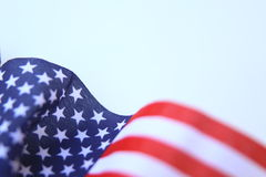 American flag U.S. Flag blowing Royalty Free Stock Image