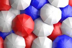 American Flag Umbrellas Stock Photography