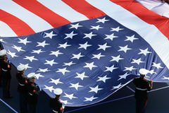 American flag on US Open. Flag of United States of America on US Open tennis final Royalty Free Stock Image