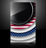 American flag usa abstract card glass metal nation Royalty Free Stock Image