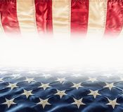 American flag. Usa Flag. Abstract perspective background of stri Royalty Free Stock Photography