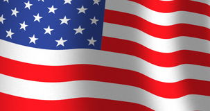 American flag of USA. American flag of the United States of America or the USA with fabric texture. Smooth motion of waving flag which is loopable stock video