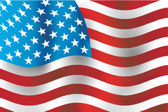 American flag, vector Royalty Free Stock Image