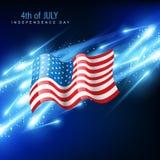 American flag vector stock illustration