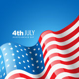 American flag vector Royalty Free Stock Image