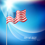 American flag vector Stock Image