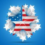 American flag vector Stock Photos
