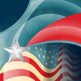 American flag vector Stock Photo