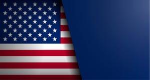 American flag vector background stock illustration