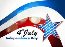 American Flag, Vector background for Independence. Abstract Independence Day background Stock Photography