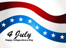 American Flag, Vector background for Independence  Stock Image