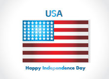 American Flag, Vector background for Independence  Royalty Free Stock Photo