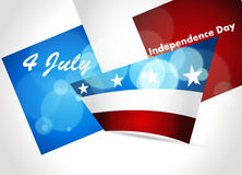 American Flag, Vector background for Independence. Abstract Patriotic wave background, eps10 Royalty Free Stock Image