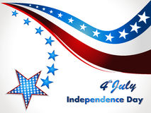 American Flag, Vector background for Independence. Abstract Patriotic wave background, eps10 Royalty Free Stock Photo