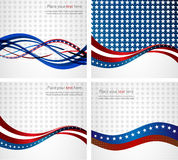 American Flag, Vector background for Independence Royalty Free Stock Photography