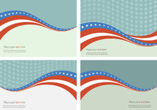 American Flag, Vector background for Independence Royalty Free Stock Images