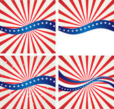 American Flag, Vector background for Independence Stock Photos