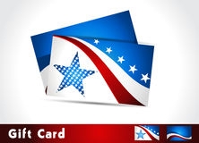 American Flag, Vector background for Independence. Patriotic wave background and gift card , eps10 Stock Images