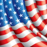 American flag vector background. American flag background photo realistic vector illustration Stock Images