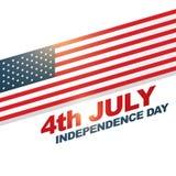 American flag vector design Stock Photos