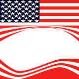 American Flag vector illustration. Background Stock Photography