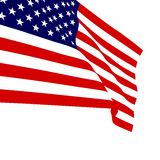 American flag vector illustration Royalty Free Stock Image